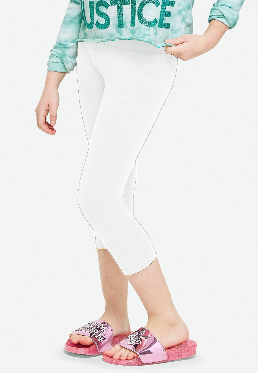 KWD5 / QR60 / AED65 / BD6.5 / JD14 / SAR75 / OMR6    Classic Crop White Leggings    15200467601