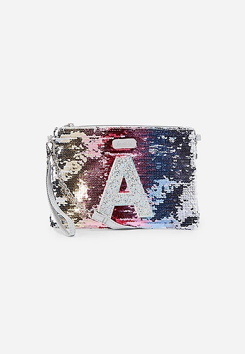 Flip Sequin Initial Crossbody