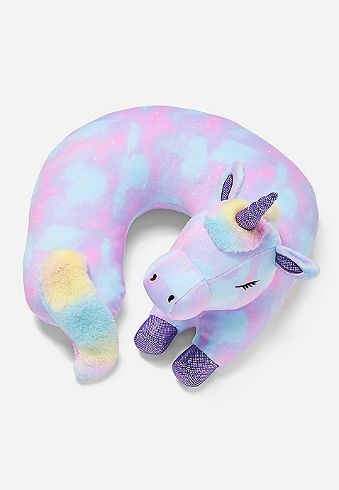 KWD9 / QR110 / AED115 / BD11 / JD27 / SAR130 / OMR11   Snuggly Soft Unicorn Neck Pillow   16170078619